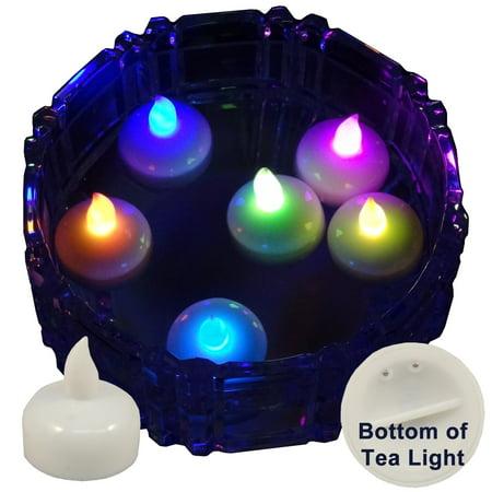 6 Pack of LED Floating Candle Tea Lights Multi Color Changing](Multi Colored Led Tea Lights)