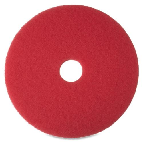 "3m Niagara 5100n Floor Buffing Pads - 20"" Diameter - 5/box - Red (MMM35053)"