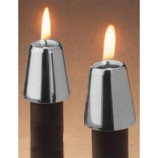 Horizon Pewter Candle Followers - Set of 2, Set of 2 By Fashion N You