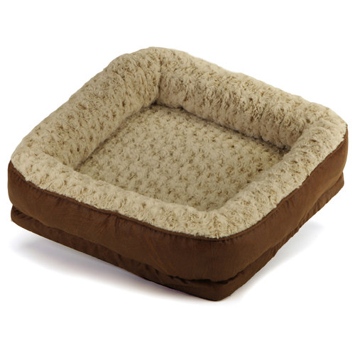 """Dallas Manufacturing Soft Spot 21"""" Square Bolster Pet Bed, 1c"""