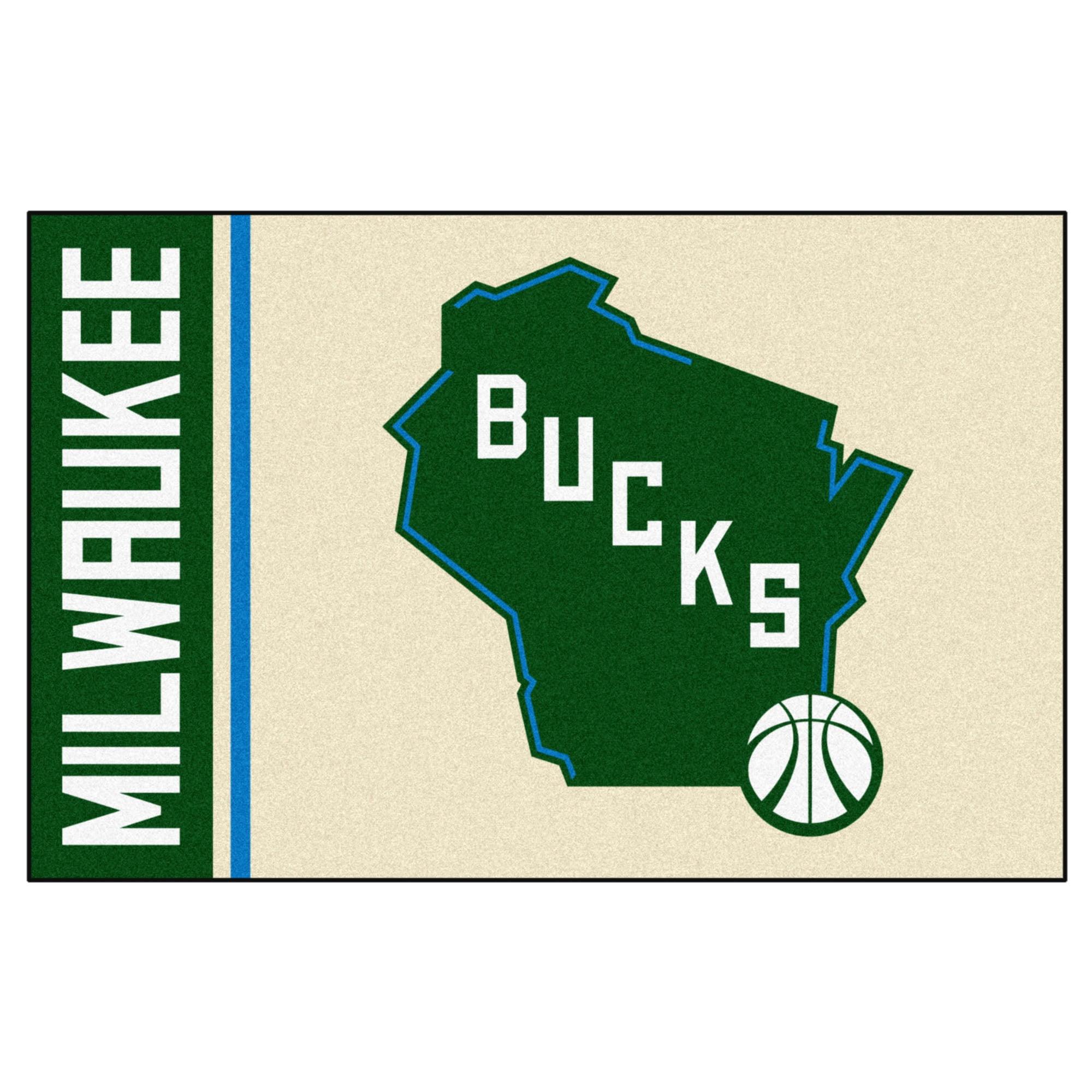 "NBA - Milwaukee Bucks Uniform Starter Rug 19""x30"""