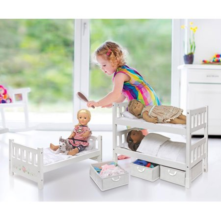Convertible Doll Bunk Beds 18 Dolls Wooden Mdf American Girl