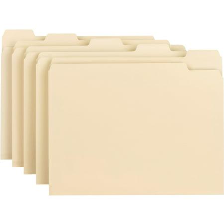 Smead Manila File Folder, 1/5 Tab, Letter Size, 100 per box