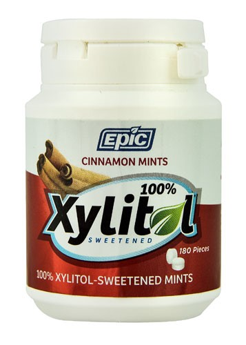 Epic Dental Mints Cinnamon Xylitol Bottle 180 Ct by Epic Dental