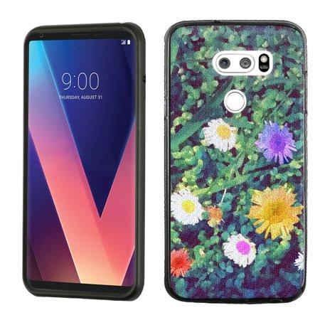 Slim-Fit Case for LG V30, OneToughShield ® Scratch-Resistant TPU Protective Phone Case (Black Bezel) - Daisy - Daisy Protective Case