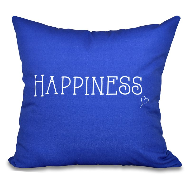 E by Design A Way With Words Happiness Decorative Pillow