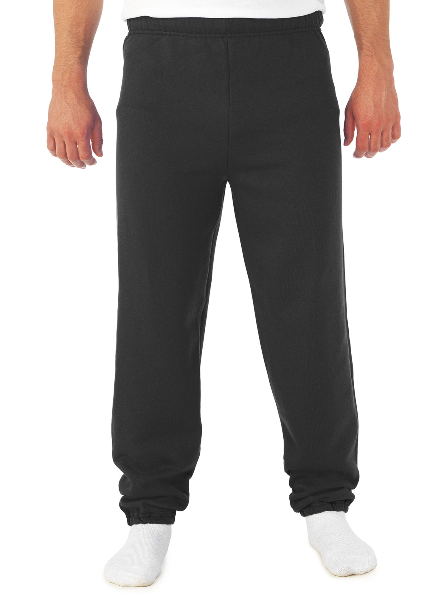 Big Men's Soft Medium-Weight Fleece Elastic Bottom Sweatpants