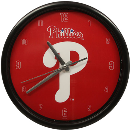 Philadelphia Phillies Black Rim Basic Clock - No Size