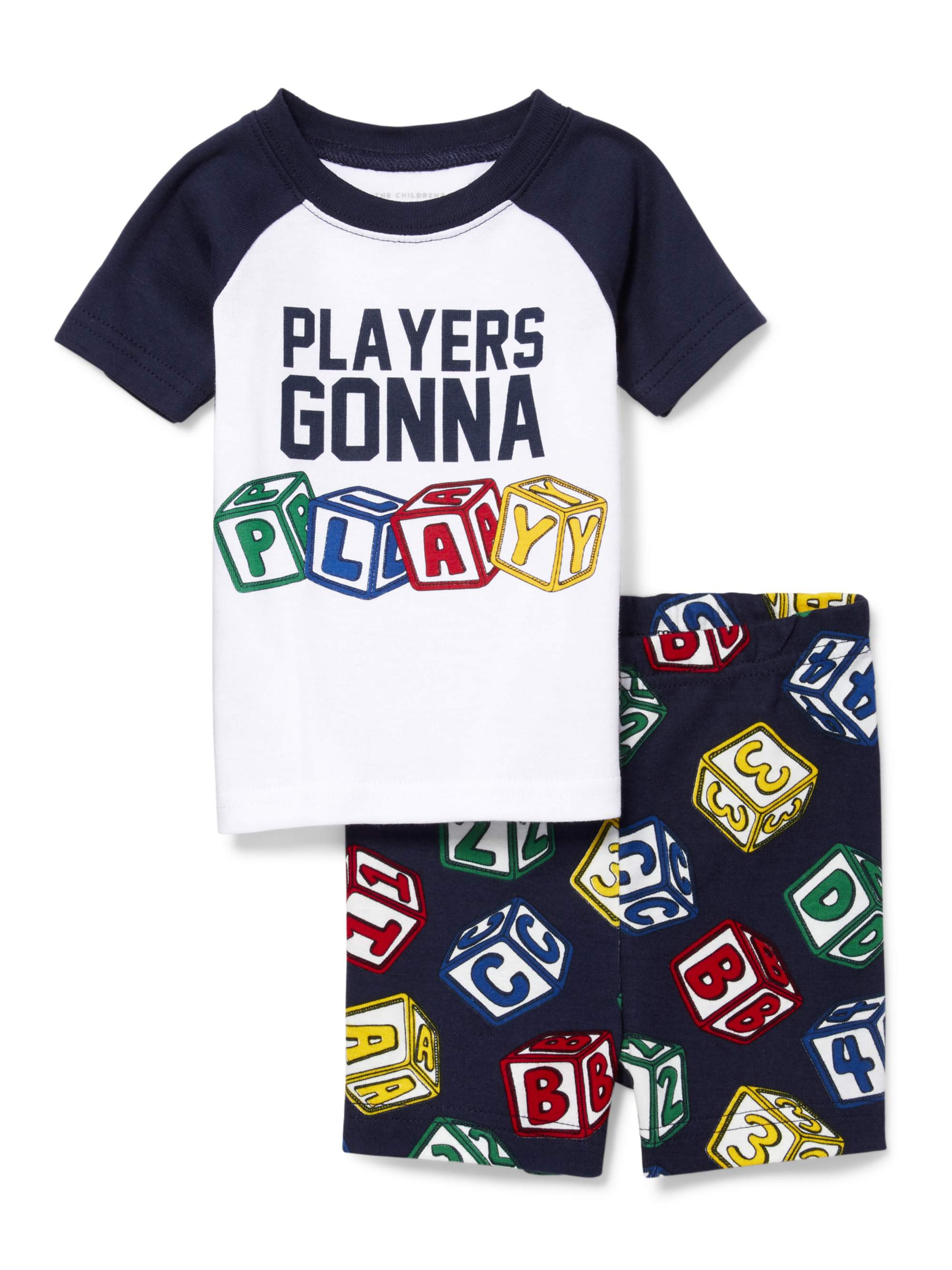 Short Sleeve Snug-Fit Top & Shorts, 2pc Pajama Set (Baby Boys & Toddler Boys)