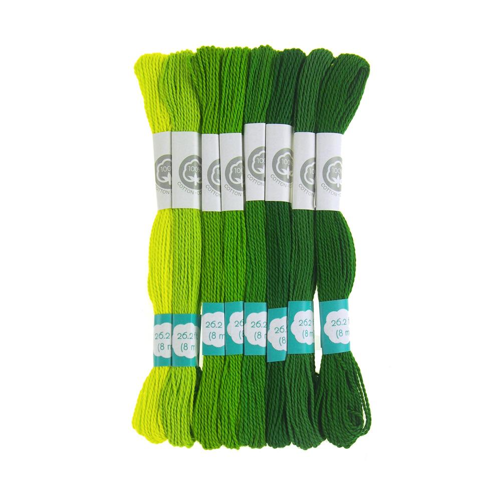 Cotton Embroidery Floss, 8.7-Yard, 8-Count, Go Green