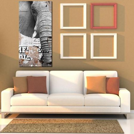 Ready2HangArt 'Saddle Ink Elephant III' Canvas Wall Art 40 inches High x 20 inches Wide