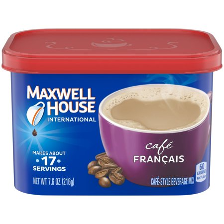 (4 Pack) Maxwell House International Francais Cafe-Style Beverage Mix, 7.6 oz Canister
