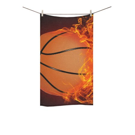 - MKHERT Basketball on Fire Bath Towel Hand Towel Shower Towel Washcloth 16x28 inch