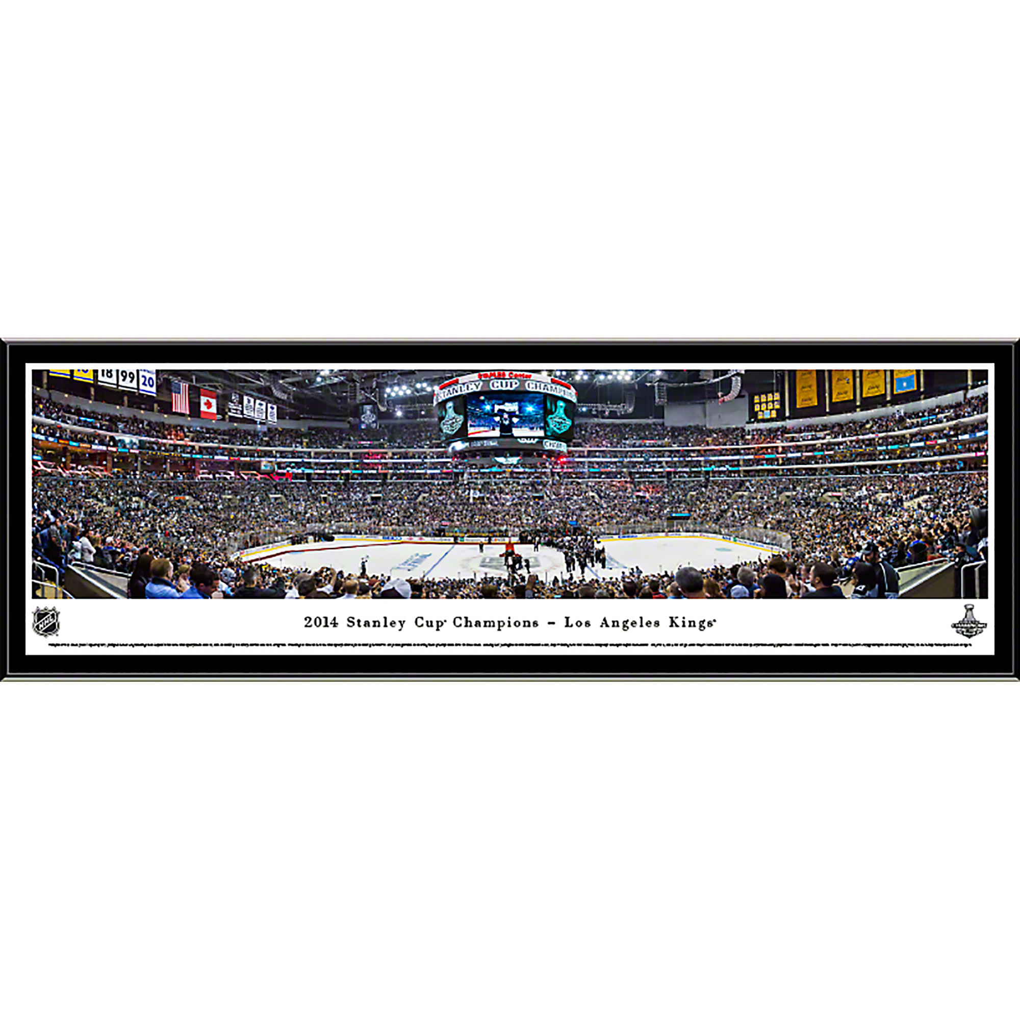 2014 Stanley Cup Champions - Los Angeles Kings - Blakeway Panoramas NHL Print with Select Frame and Single Mat