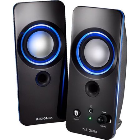 Insignia™ - 2.0 Bluetooth Lighted Speaker System (2pc) - (Insignia Bluetooth Speaker Drivers For Windows 7)