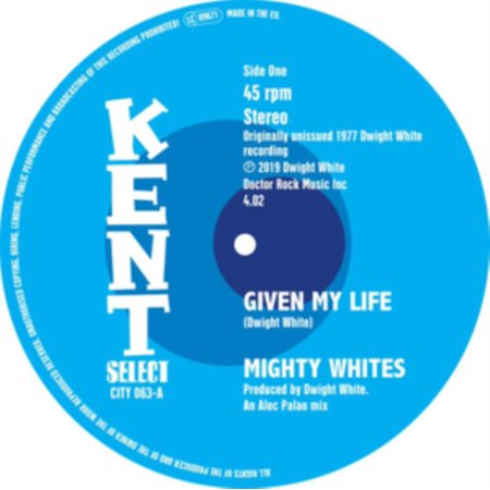 MIGHTY WHITES / JONES,JACQUELINE - Given My Life / A Frown On My Face - Vinyl (7-Inch) Given Round Face