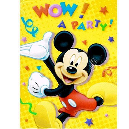Mickey Mouse Invitations w/ Envelopes (8ct) - Diy Mickey Mouse Invitations