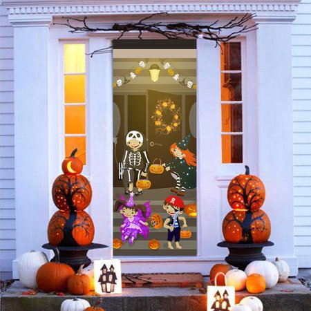 Tuscom New Style Halloween LOGO Imitation 3D Door Stickers Waterproof Wall Stickers](Halloween 3d News)