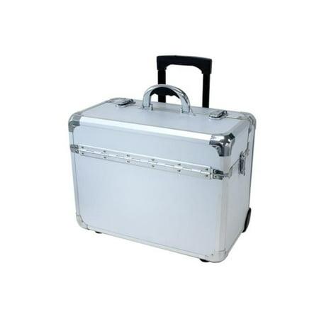 TZ Case APL-910T SD Wheeled Pilot Case, Silver Dot - 13.75 x 10 x 18.25 in.
