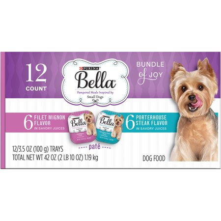 Purina Bella Bundle of Joy With Filet Mignon & Porterhouse Steak Flavors Adult Wet Dog Food Variety Pack - (12) 3.5 oz. (Best Wet Dog Food For Puppies)