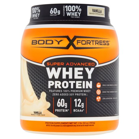 Body Fortress Super Advanced Whey Protein Powder  Vanilla  2 Lbs