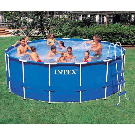 intex 15 x 42 metal frame pool set