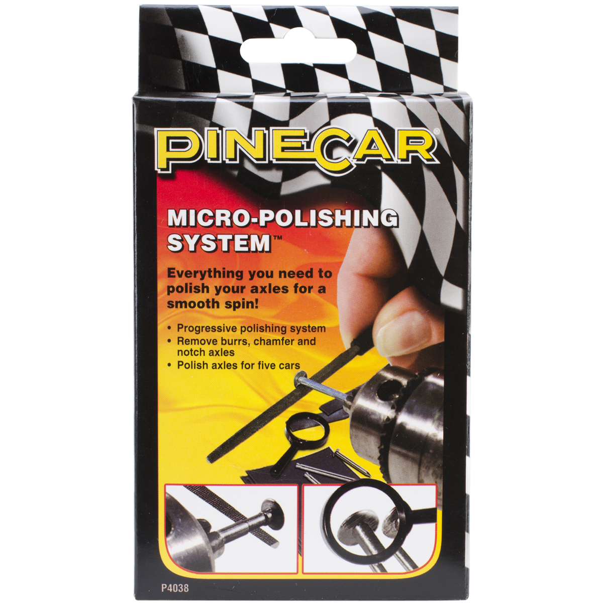 Pine Car Derby Micro-Polishing System