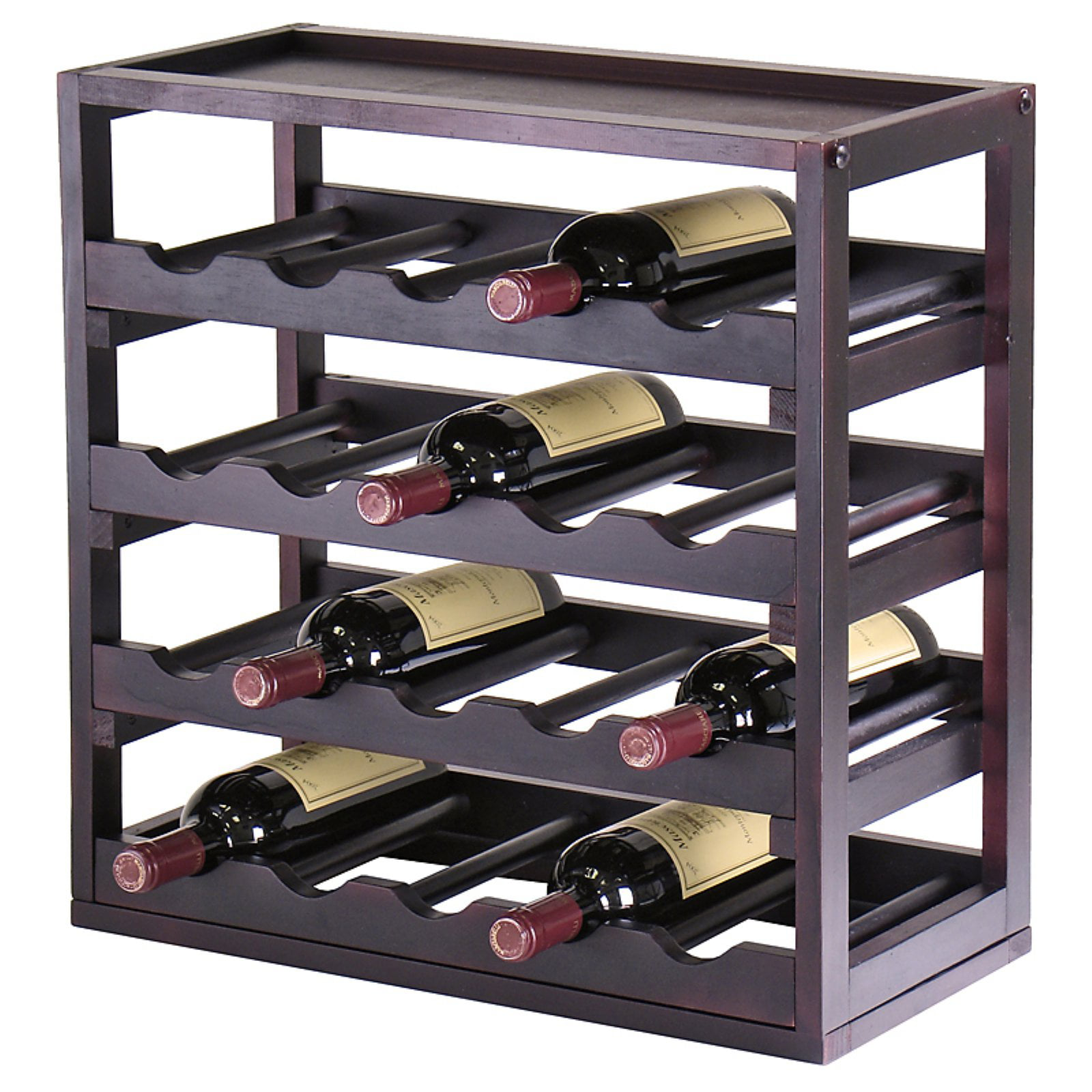 Kingston Stackable 20 Bottle Wine Rack Cube with Removable Tray by Winsome