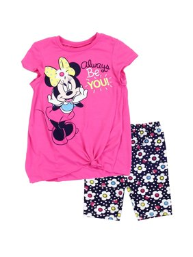 Disney Minnie Mouse Baby Girls' Bike Shorts Set
