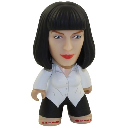 Titan Merchandise - Vinyl Minifigure - Pulp Fiction - MIA WALLACE (White Shirt) *Chase* (2.5 inch) - Pulp Fiction Mia Wallace Halloween