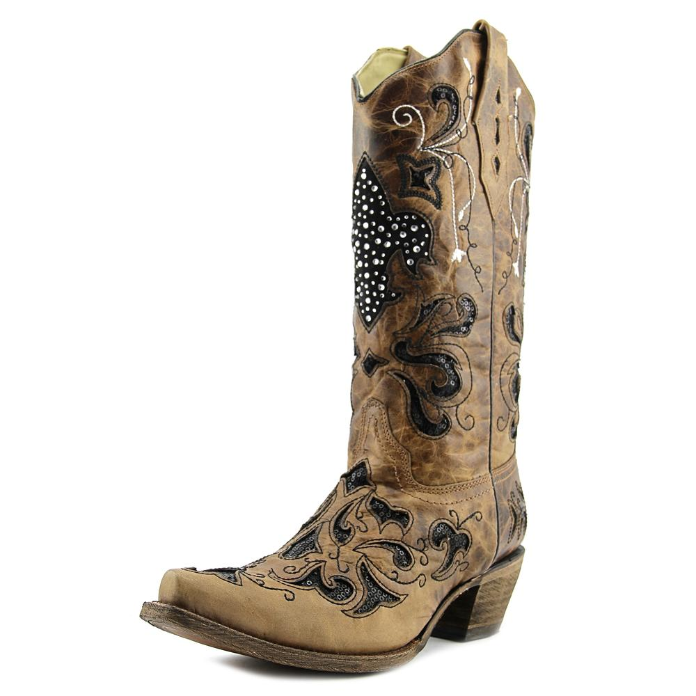 Corral A2856 Women  Pointed Toe Leather Tan Western Boot