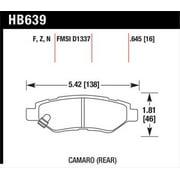 Hawk Camaro V6 Performance Ceramic Street Rear Brake Pads