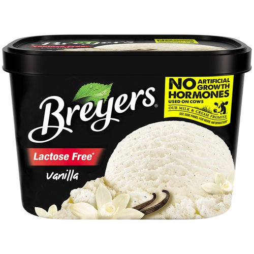 Breyers Lactose Free Vanilla Ice Cream, 48 oz