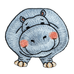 Expo Int'l BaZooples Iron-on Patch Applique Humphrey Hippo