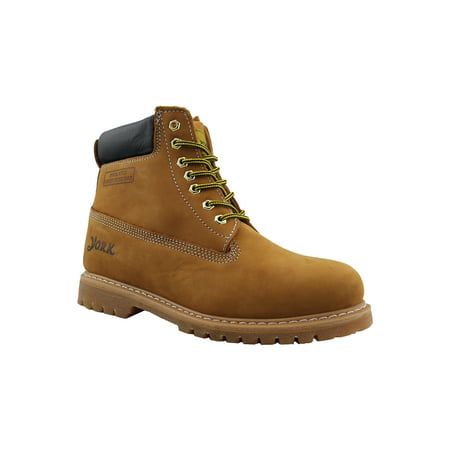 Plaintoe Work Boots Nubuck Leather Lace-Up Martin Boots for Men
