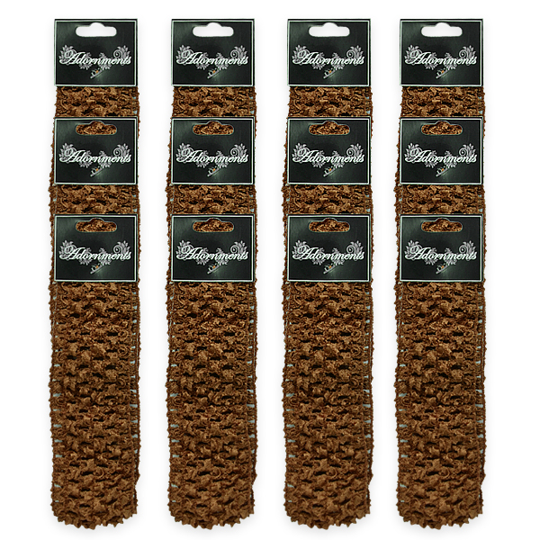Expo Int'l Pack of 12 Crochet Stretch Headbands