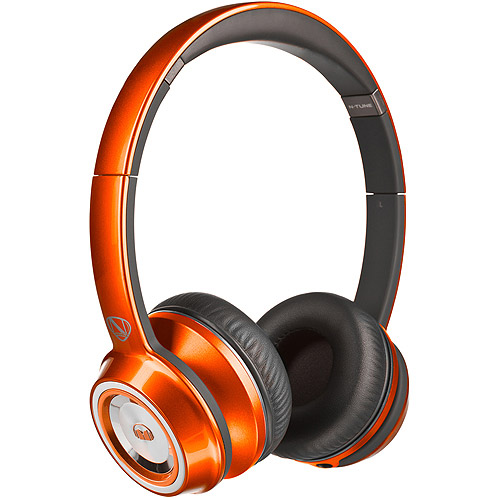 Monster NCredible NTune On-Ear Headphones-Candy Tangerine