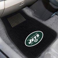 New York Jets 2-Piece Embroidered Car Mat Set