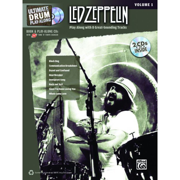 Alfred Ultimate Drum Play-Along: Led Zeppelin, Volume 1 (Book and 2CDS)