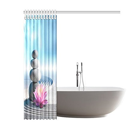 Gckg Zen Garden Shower Curtain Japanese Spa Zen Stone Lily Sand