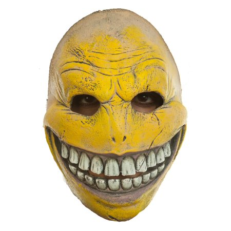 Creepy Smiley Face Adult Mask](Ghoulish Halloween Faces)
