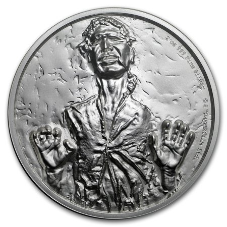 2017 Niue 2 oz Silver $5 Star Wars Han Solo Ultra High (2 Oz Privateer Ultra High Relief Silver Round)