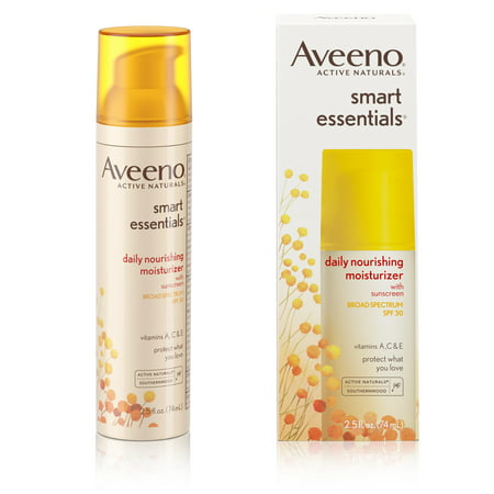 Aveeno Smart Essentials Daily Nourishing Moisturizer Oil Free With Broad Spectrum Spf 30, 2.5 Oz