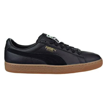 new concept 6a2e2 8dd0f Puma Basket Classic Gum Deluxe Men's Sneakers Puma Black 365366-02