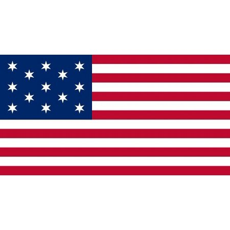 - 3x5 Hopkinson's 1777 United States Flag 13 Star US Banner American Historical