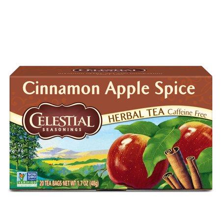 Celestial Seasonings Cinnamon Apple Spice Herbal Tea, 20 Count (Best Tea For Sleep And Relaxation)