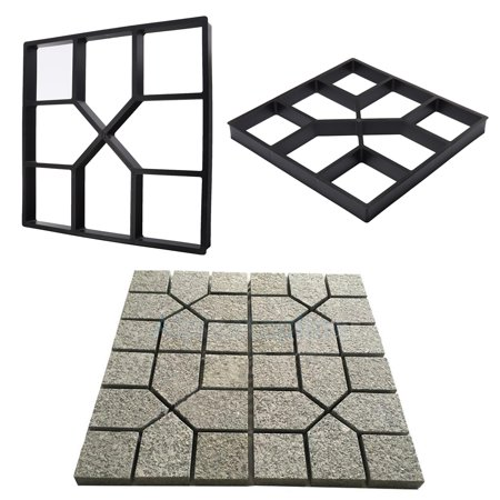 LDPT Concrete Paving DIY Pavement Concrete Stepping Stone Mold Path Walk Maker Paver Walk Way ()