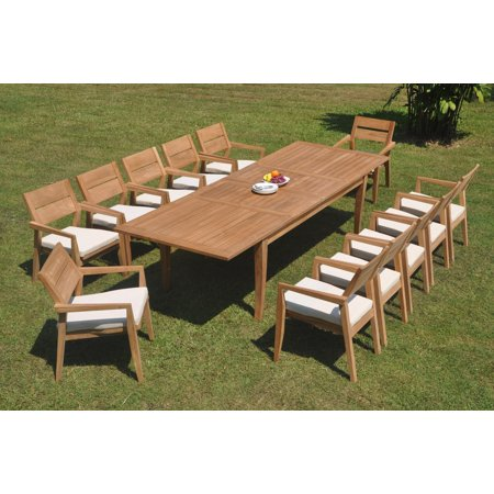 Grade A Teak Dining Set 12 Seater 13 Pc 122 Atnas Double