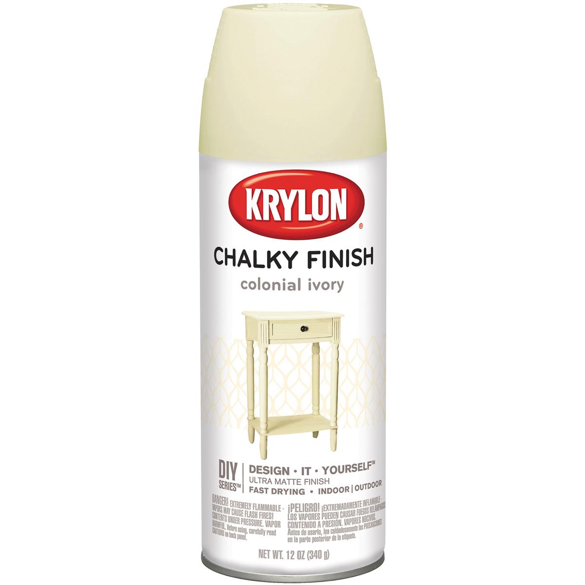 Chalky Finish Aerosol Spray Paint 12oz-Colonial Ivory