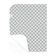 Kushies Flat Flannel Change Pad - Grey Lattice